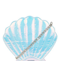 Iridescent Shell Cross Body Bag