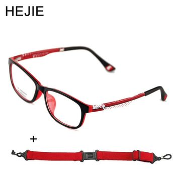 Classic Kids TR90 Eyeglasses Frames Clear Lens Comfortable For Boys Girls Children Students With Chain Size 51-15-133mm Y1158