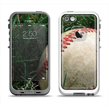 The Grunge Worn Baseball Apple iPhone 5-5s LifeProof Fre Case Skin Set