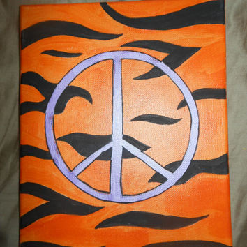 Zebra Peace Sign