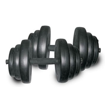 Sunny Health & Fitness 40-lb. Vinyl Dumbbell Set (Black)