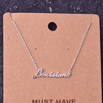 You'll be My Louisiana Necklace (Silver)