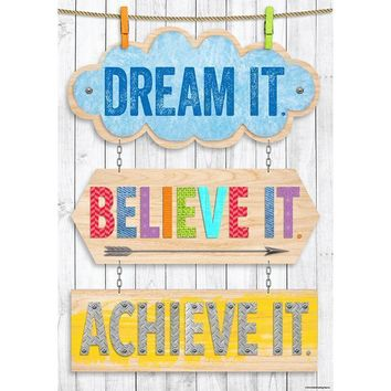 DREAM IT BELIEVE IT ACHIEVE IT