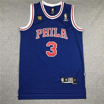 Men's Philadelphia 76ers Allen Iverson 10th Throwback Swingman Jersey - Danny Online