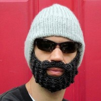 gray beard hat S/M by taraduff on Etsy