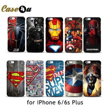 "Deadpool Marvel comic superhero Phone Case for iPhone 8 8 Plus 7 7 Plus 6 6s Plus 4.7"" 5.5"" inch Spiderman ironman 10 Designs"