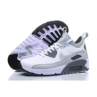 Nike Air Max 90 Ultra Mid Winter White Grey Men Running Shoes Sneaker 924458 300 002