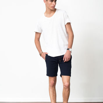 Navy Tech Stretch Shorts