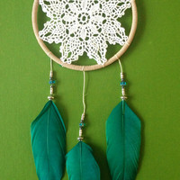 Dream Catcher - Doily - Blue - Modern - Turquoise