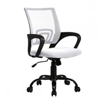 White Ergonomic Mesh Computer Office Desk Midback Task Chair w/Metal Base H03