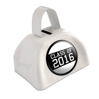 Class of 2016 Graduation White Cowbell Cow Bell