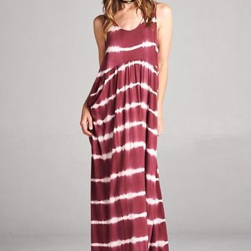 Sleeveless Loose Fit Scoop Neck Maxi Dress