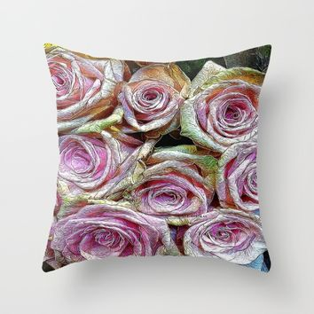 :: Rose is a Rose :: Throw Pillow by :: GaleStorm Artworks ::