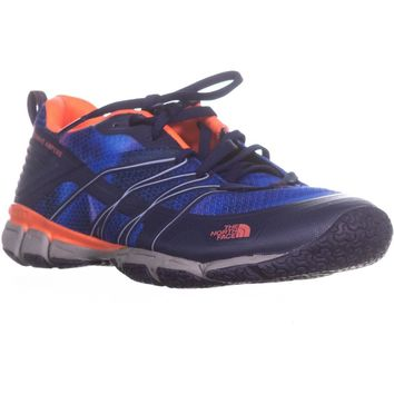 The North Face Litewave Ampere Athletic Sneakers, Patriot Blue/Tropical Coral, 8 N US / 39 EU