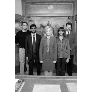 """Parks And Recreation Poster Black and White Poster 24""""x36"""""""