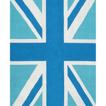 Union Jack Blue Indoor/Outdoor Rug