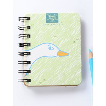 Goose Print Spiral Notebook 80sheets