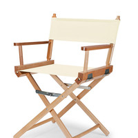 Varnish Heritage Director Chair - Dining Height - Natural Cover