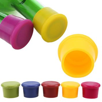 WCIC Bottle Stoppers Food Grade Silicone Beer Cover Red Wine Champagne Bottle Caps Bar Accessories Preservation Dustproof Tool