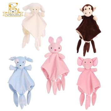 Infant Appease Towel Elephant Rabbit Dog Sheep Monkey Animal Doll Baby Cute Soft Hand Blanket Stuffed Toy Sleep Comfort Playmate