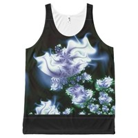 White Flower Abstract All-Over Print Tank Top
