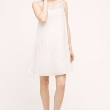 KAS New York Bex Swing Dress in White Size: