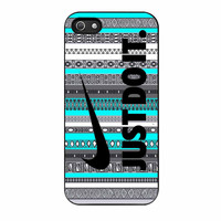 Nike Aztec Mint Black Just Do It Vintage iPhone 5s Case