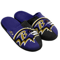 Baltimore Ravens  Official NFL Split Color Slide Men's Slippers