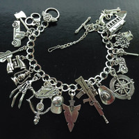 Zombie The Walking Dead charm bracelet