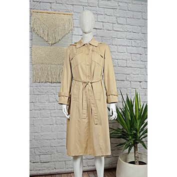 Vintage 1970s Classic + Hooded Trench Coat