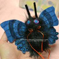 Holiday Sale Halloween Moth Hair Clip Glows in The Dark
