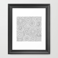 Circle Doodle Art Framed Art Print by Kate & Co.