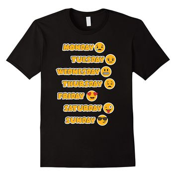 Emoji Shirt Love Your Emoticon Shirt 7 Days A Week!