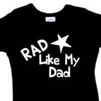 Rad Like My Dad Creeper Boy Girl Unisex // Baby Clothes // Baby Shirts