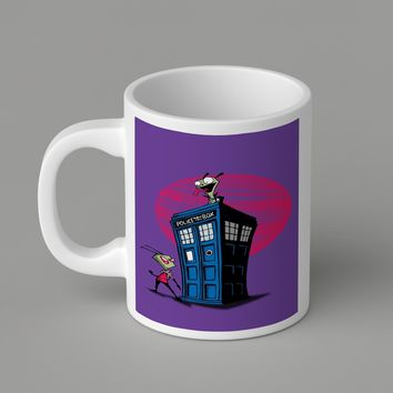 Gift Mugs | Doctor Who Funny Abbey Road   Ceramic Coffee Mugs