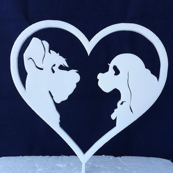 Lady And The Tramp  - Disney - Cake Topper - Acrylic - Wedding