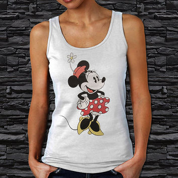 Classic Minnie Mouse Disney Woman Tank Top (Color Available)