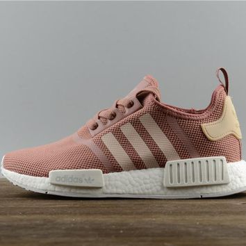FREE SHIPPNG Adidas NMD R1 Runner W Nomad Women's Peach Pink Salmon Boost S76006