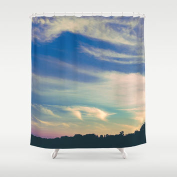 Cross My Mind Shower Curtain by Faded  Photos
