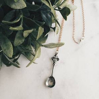 Silver Spoon Necklace
