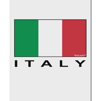 "Italian Flag - Italy Text Aluminum 8 x 12"" Sign by TooLoud"