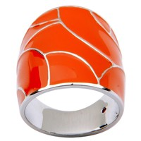 ELLE Sterling Silver Orange Mod Ring