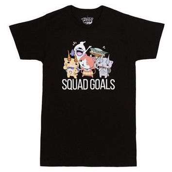 Yo-kai Watch Squad Goals Level-5 Video Game Licensed Adult Unisex T-Shirt - Blk