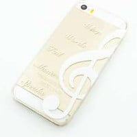 Plastic Case Cover for iPhone 5 5S 5C 6 6Plus (Pick One) When Words Fail Music Speaks quotes love hope