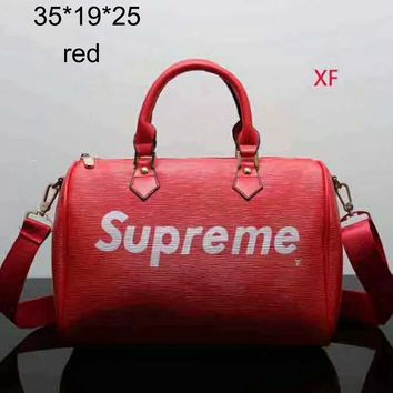 Supreme 2018 spring and summer new travel fashion simple shoulder bag F-LLBPFSH red