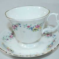 Vintage Royal Kent Bone China Cup and Saucer - Made in England - Cup o' Tea - Cup of Coffee - Collectible
