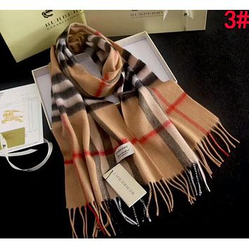 BURBERRY Classic Popular Soft Comfortable Cashmere Cape Scarf Scarves Shawl Accessories Khaki