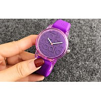 Adidas Silicone Strap Watch - Candy Color Purple I-Fushida-8899