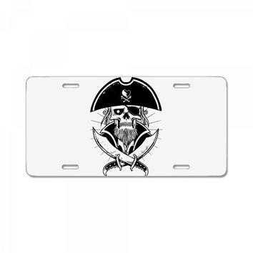 skull with beard License Plate