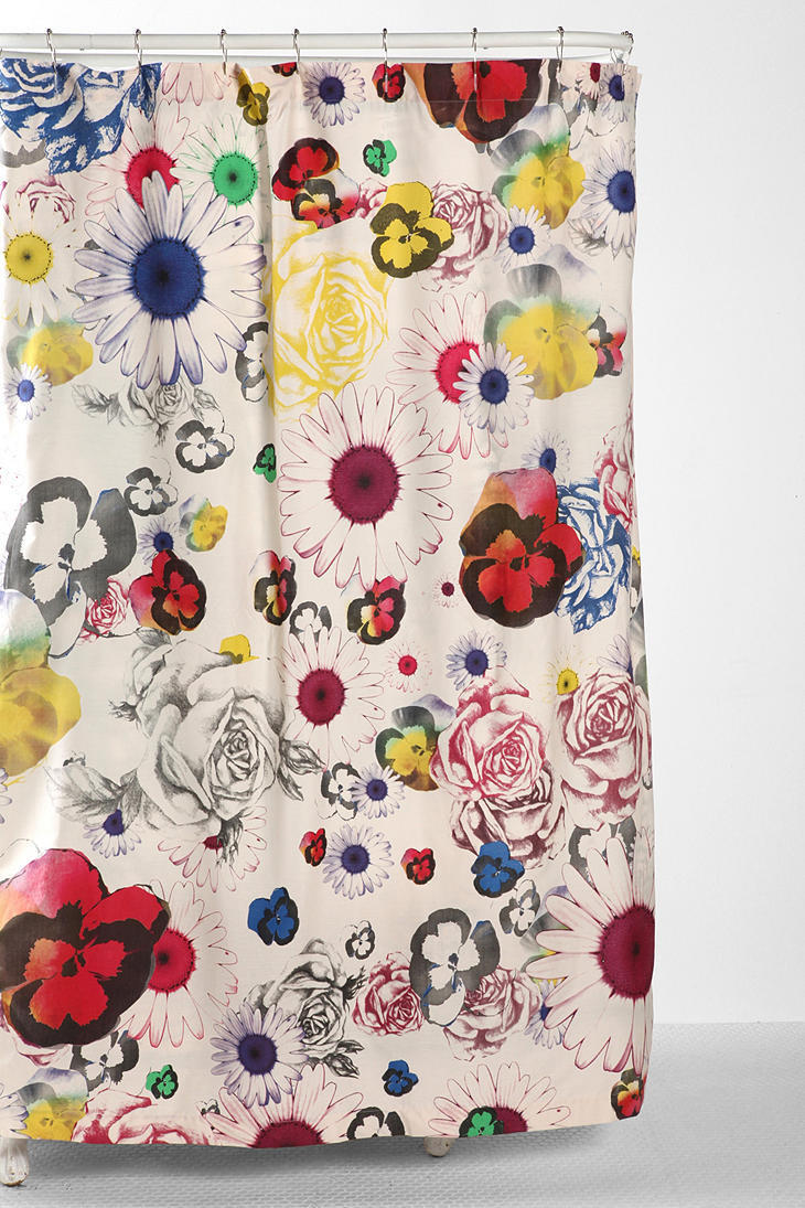 Plum & Bow Cher Floral Shower Curtain from Urban Outfitters